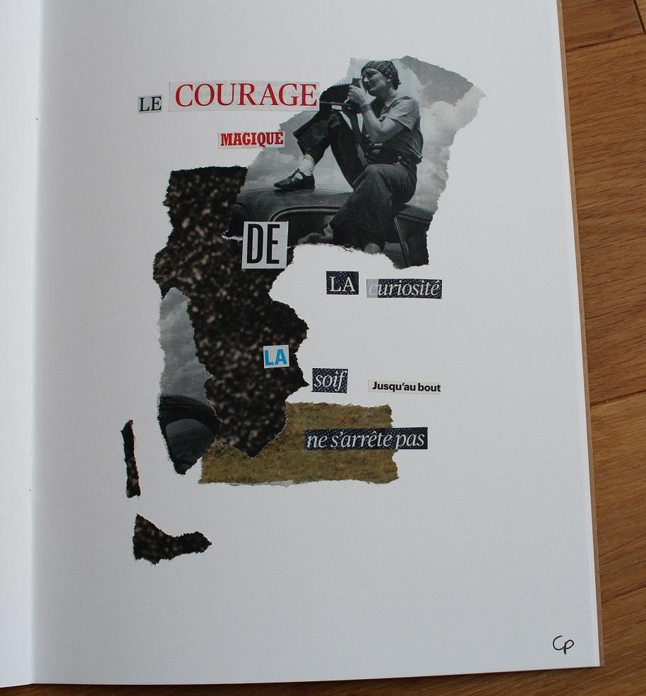 Le courage magique de la curiosité - Collage 21x29,7cm - Télérama n°3465